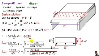RCD:- One way slab design / design of a one way RC slab.