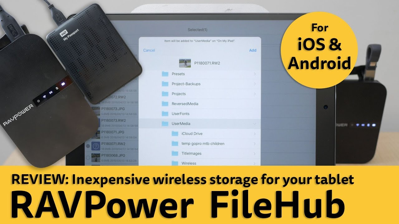 Review: RAVPower FileHub (newest model)  Inexpensive
