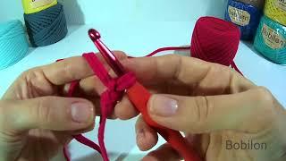 Вязание для начинающих. Урок 1. Первая петля, набор воздушных петель