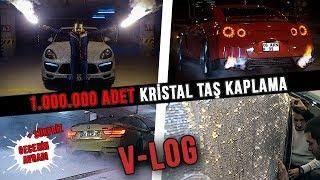 Türkiye'de İlk Defa 1 Milyon Adet Kristal Taş Kullanılarak Kaplanan Porsche Cayenne | V-LOG