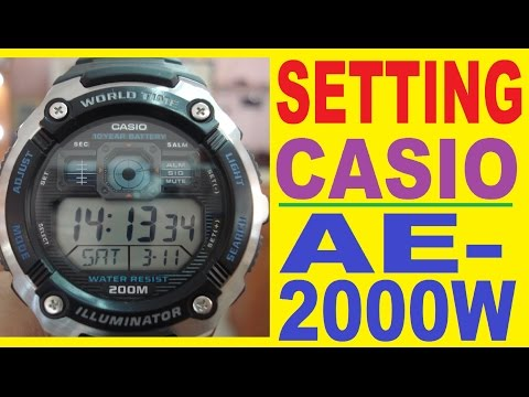 Setting Casio AE-2000W manual for use