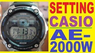 Налаштування годинника Casio ае-2000Вт інструкція по застосуванню
