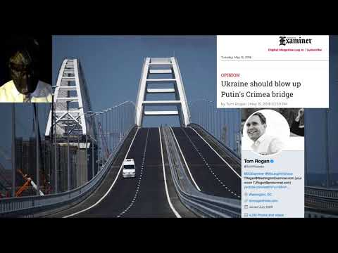 34. US magazine Washington Examiner / Tom Rogan call to Blow up Crimea Bridge