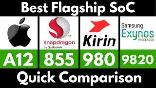 [Hindi]-Apple A12 Bionic vs Snapdragon 855 vs Kirin 980 vs SM Exynos 9820 | Best Flagship SoC