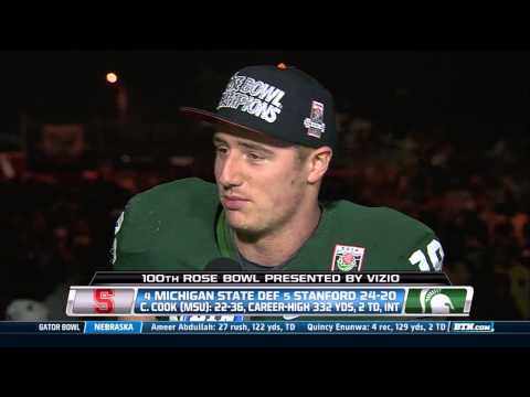Connor Cook Interview -100th Rose Bowl Champion