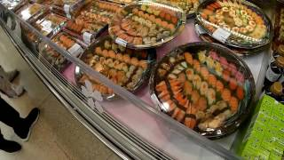 Sushi  at Supermarket İn Hong Kong