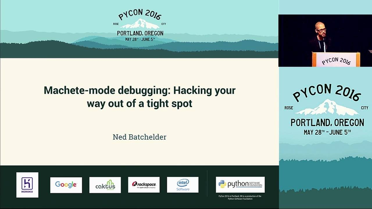 Image from Machete-mode debugging: Hacking your way out of a tight spot