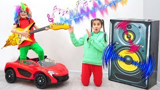Fatima Playing with Magic Music Instruments Toys For Kids