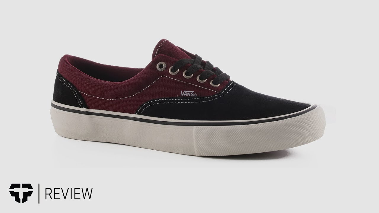 3ceaef157d0d Vans Era Pro Skate Shoes review - YouTube