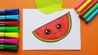 How To Draw Kawaii Watermelon