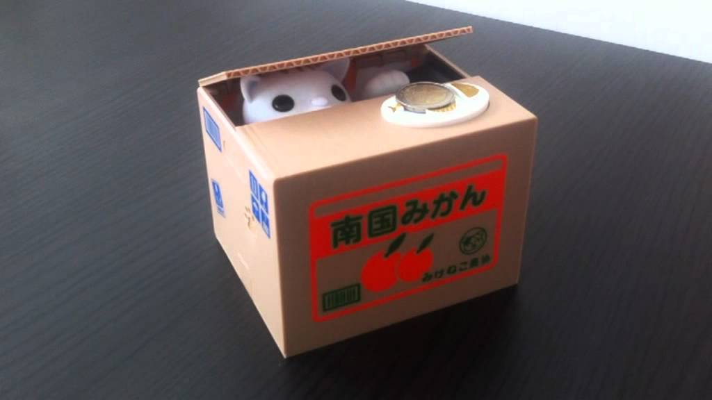 Mieschief Bank Cat Coinbox Lustige Katzen Spardose Youtube