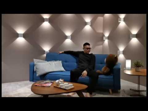 Perth 3 Seater Fabric Sofa - Feeling Good