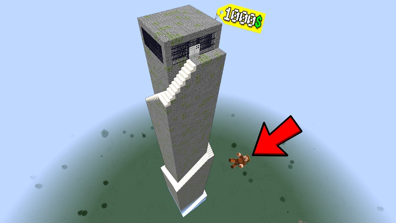 1000$ UZAY KULE HAPİSHANE - Minecraft