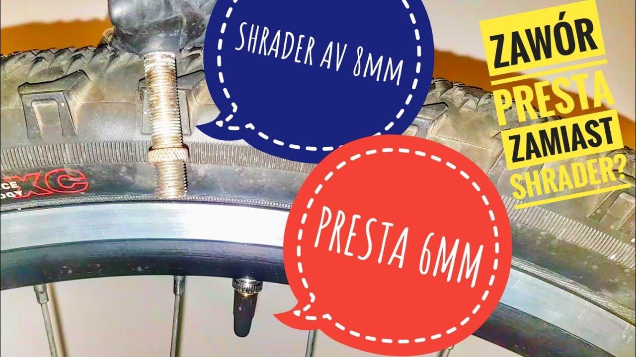Zawór PRESTA 6mm zamiast SHRADER AV 8mm w Rowerze Górskim ?