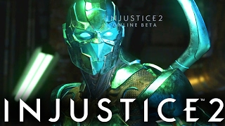 "Injustice 2: BLUE BEETLE 50% COMBO #RageQuit - Injustice 2 ""Blue Beetle"" Gameplay"