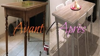 Retaper sa table en bois vernis