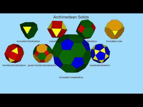 Archimedean Solids (semi-regular polyhedra)