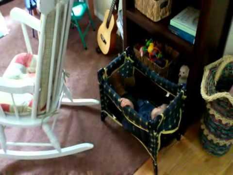 June 2013 Mattie In Small Doll Crib
