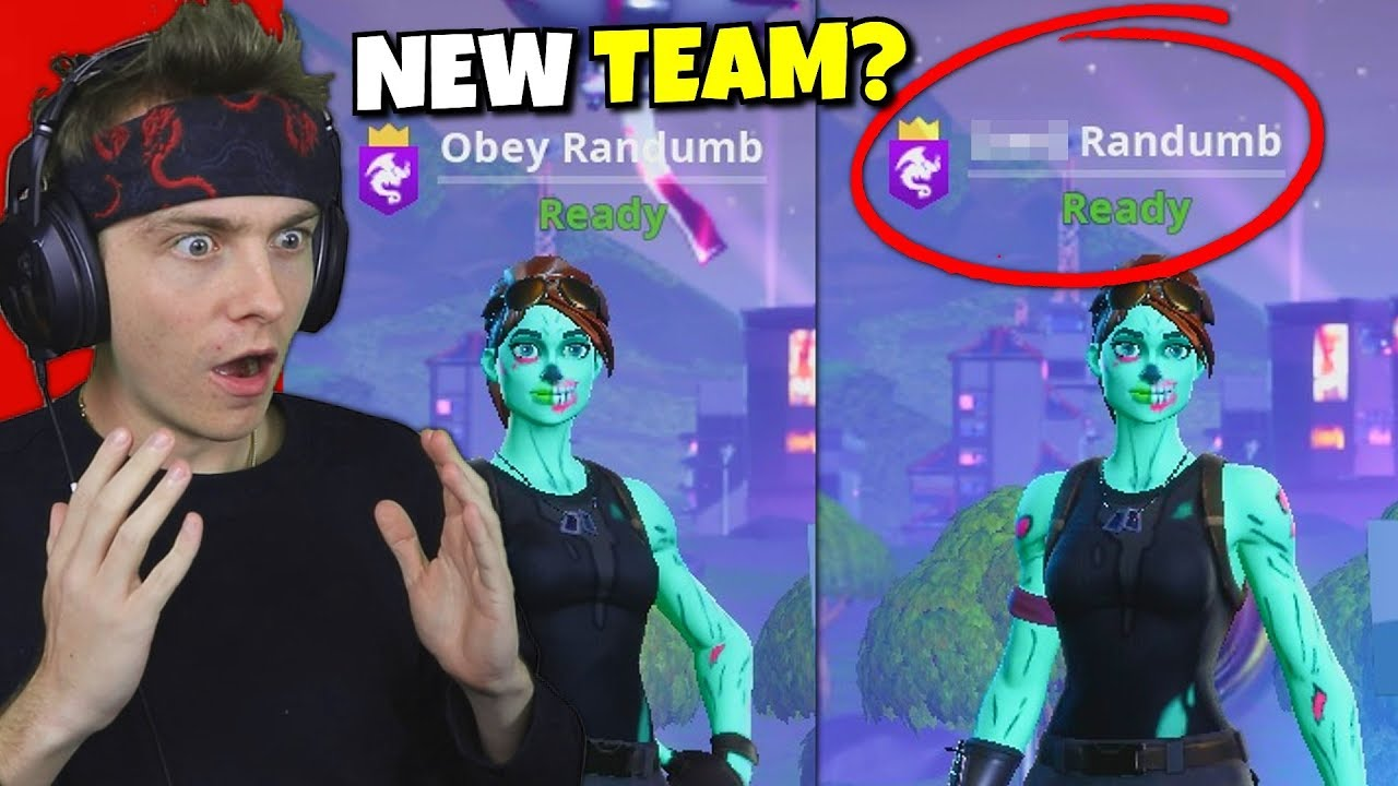 i joined a fortnite team... (my new name) - YouTube