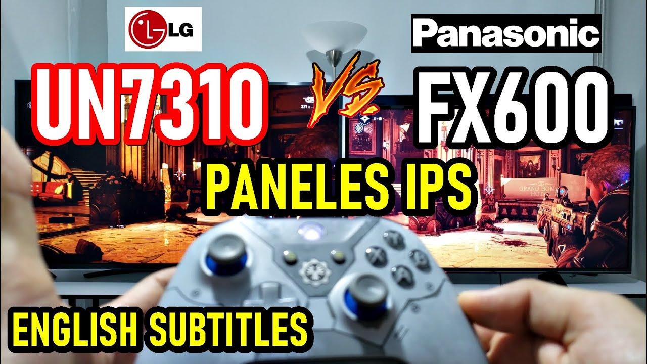 LG UN7310 (UN7300) vs PANASONIC FX600: Televisores 4K con Paneles IPS