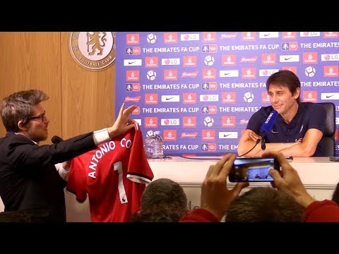 Antonio Conte Full Pre-Match Press Conference - Chelsea v Hull - FA Cup - Pranked With Utd Shirt