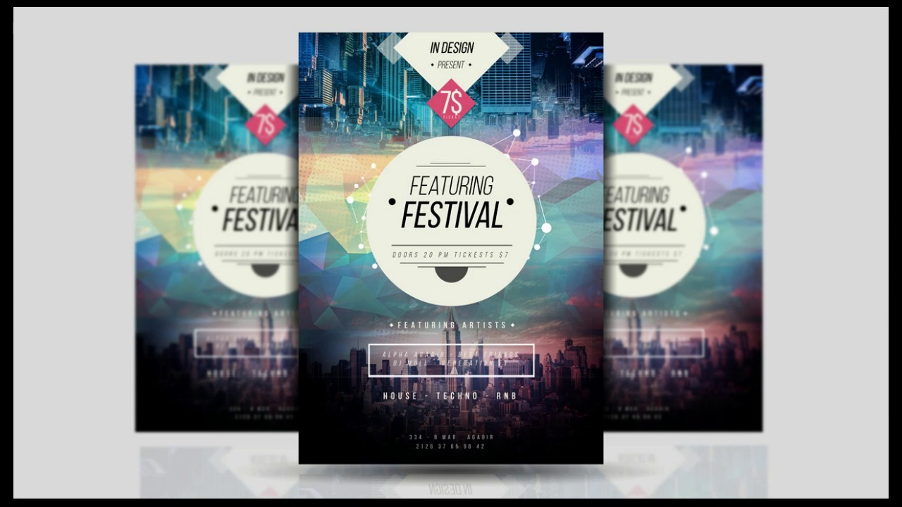 how to design a flyer for an event