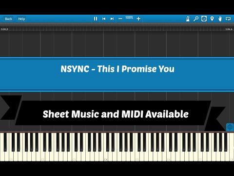This I Promise You  N Sync Sheet Music & Midi Download