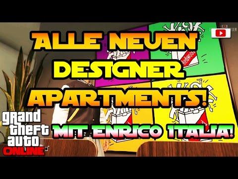 GTA 5 Online - Alle Neuen Designer Apartments Enrico Italia! [Executives And Other Criminals Update]
