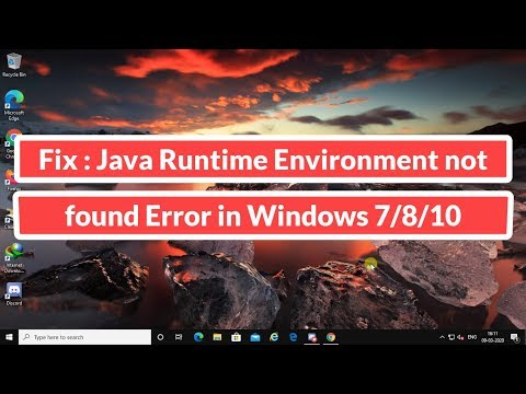 Fix : Java Runtime Environment Not Found Error In Windows 7/8/10