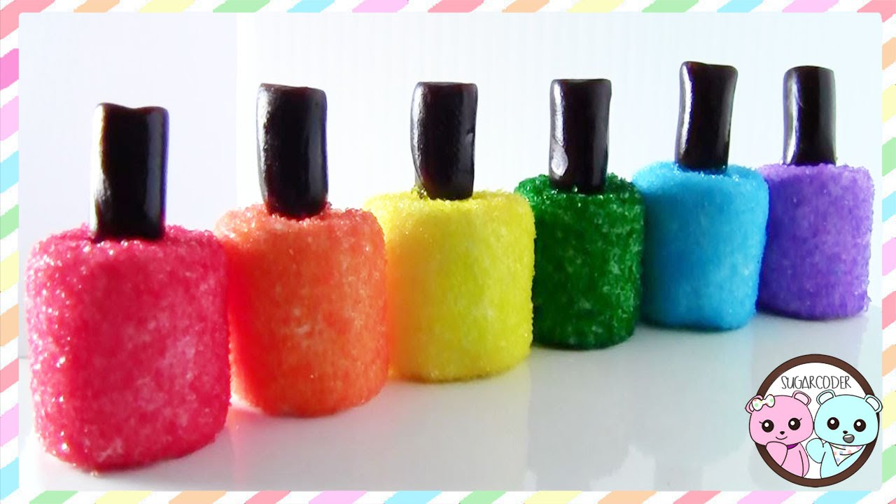 NAIL POLISH MARSHMALLOWS - SUGARCODER - YouTube