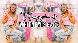 VLOGGING WHIT IS BACK! Pack With Me & Leg Workout