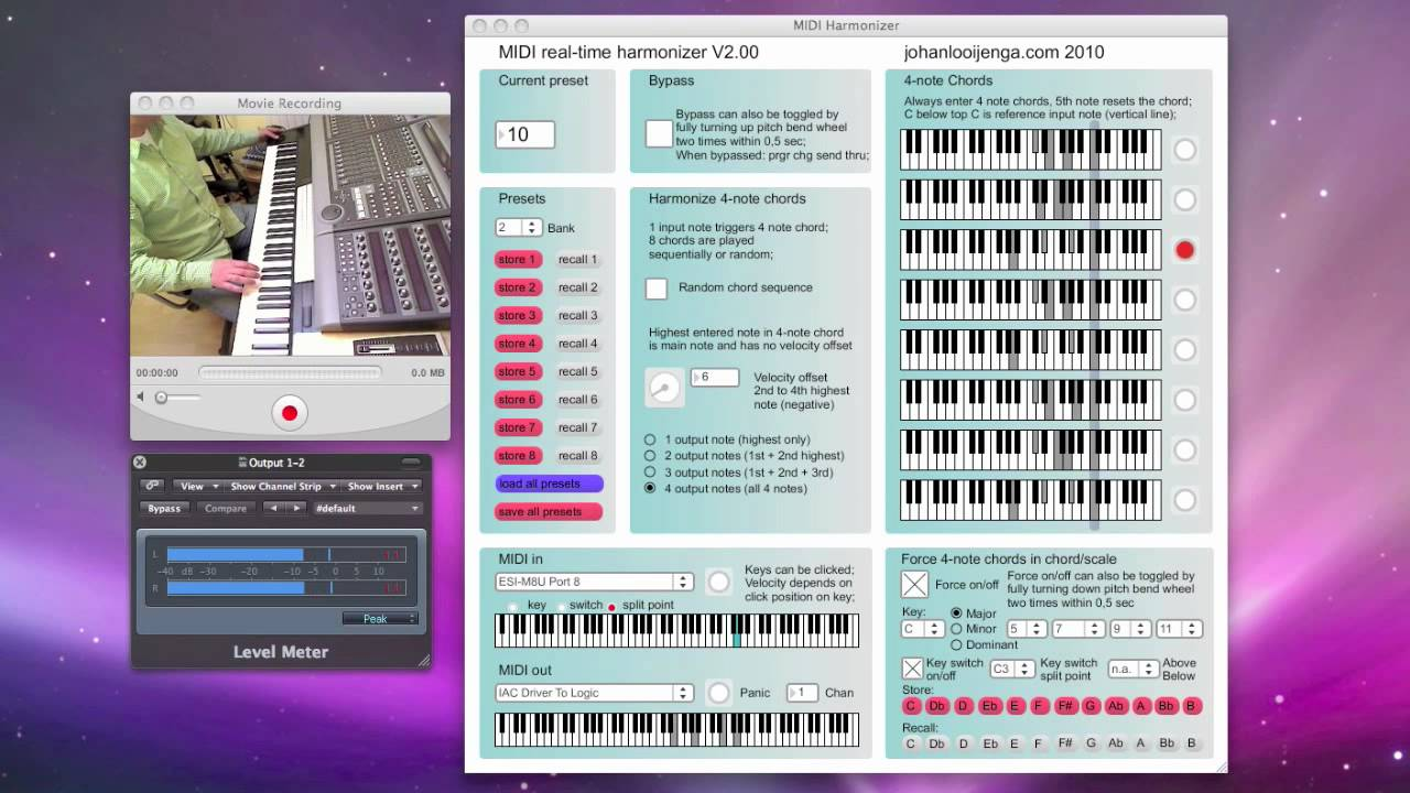 MIDI real-time Harmonizer V2