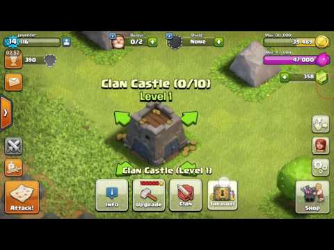 What Is Clan Castle And How To Join/create A Clan In Coc|Hindi|