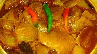 পাঁপড়ের ডালনা   Popular Rajasthani Recipe Papad Curry with Potato   Papor