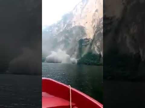 Derrumbe en el Cañón del Sumidero, Chiapas