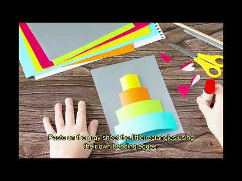 How to make a cake greeting card | DIY Simple paper craft
