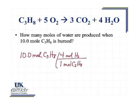 5.01 How Many Moles Of Water Are Produced