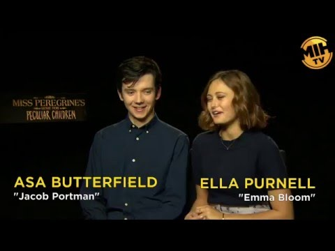 Asa Butterfield and Ella Purnell interview Miss Peregrine's Home for Peculiar Children