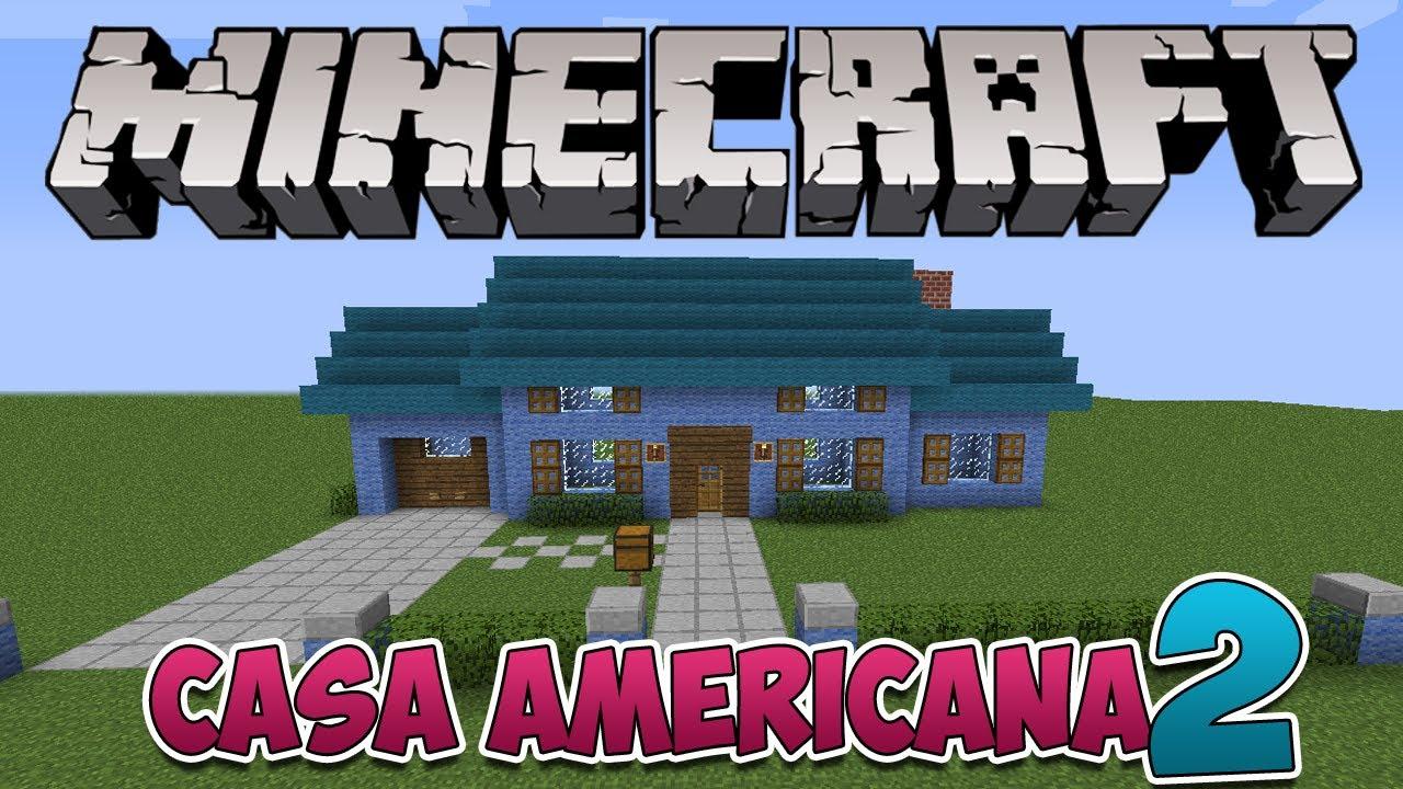 Minecraft como construir uma casa americana 2 doovi for Casa moderna minecraft xbox 360