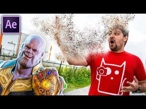 THANOS DISINTEGRATION - After Effects (NO PLUGINS)