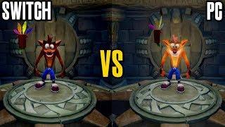 Crash Bandicoot N. Sane Trilogy Graphics Comparison (Nintendo Switch vs PC)