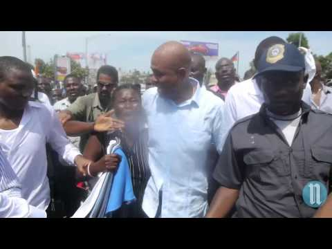 Martelly Manifestation contre Manifestation