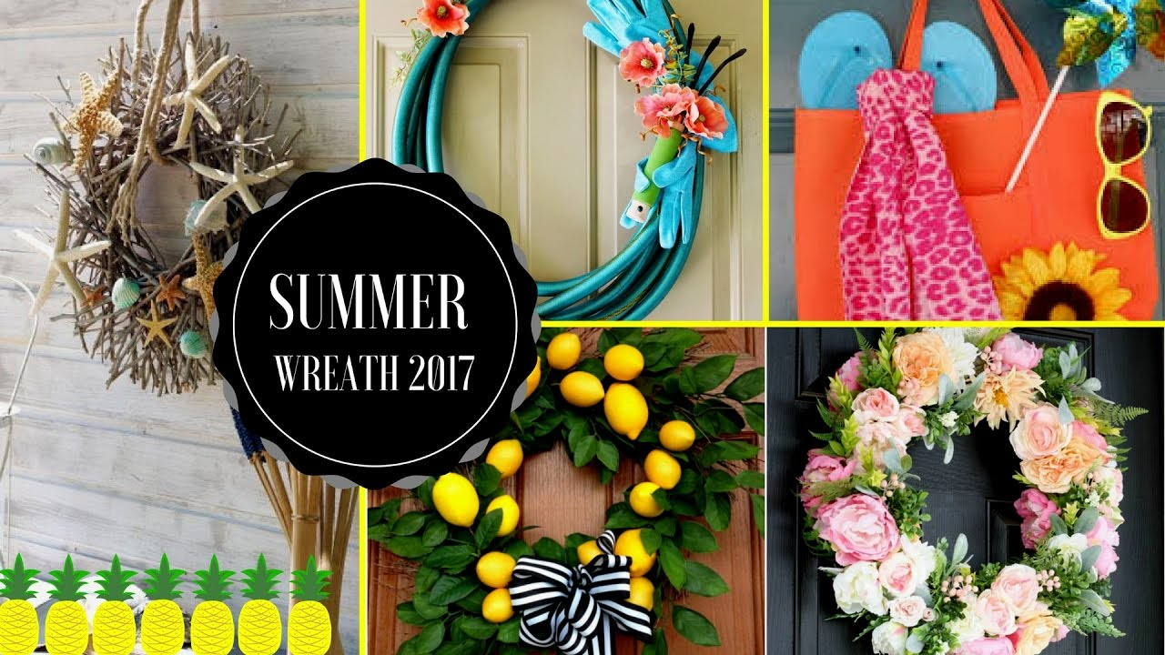 50 DIY Summer Wreaths Decorations Ideas For Your Home Front Door🏡