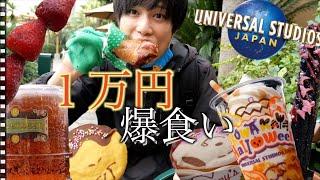 ユニバで1万円分食べきりに挑戦!!【1万円企画】in USJ