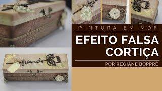 Gambar cover DIY - Pintura em MDF - Efeito Falsa Cortiça e Emb