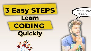 ✅ Easy and Bęst way to learn coding in 3 simple steps | How to learn to code quickly with tips