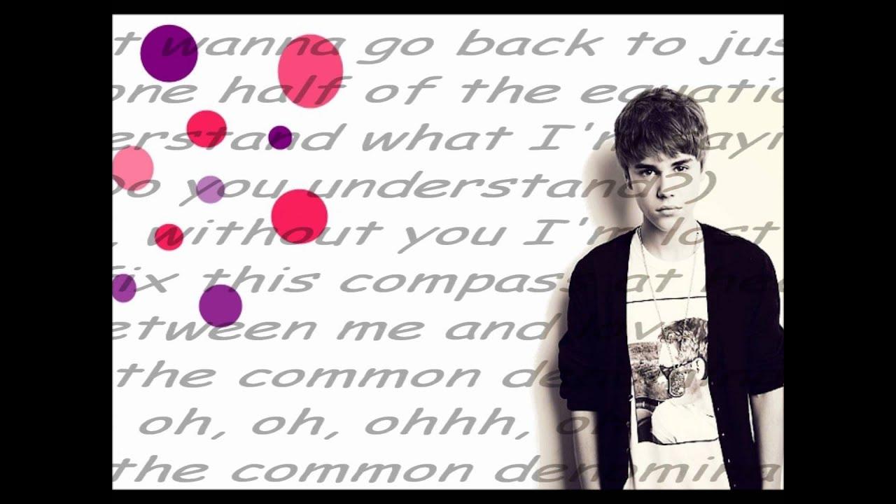 Justin Bieber:Common Denominator Lyrics   LyricWiki ...
