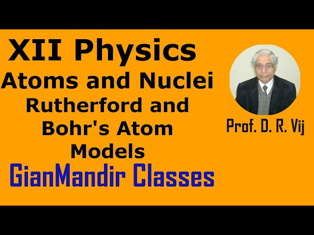 XII Physics | Atoms and Nuclei | Rutherford and Bohr's Atom Models by Poonam Ma'am