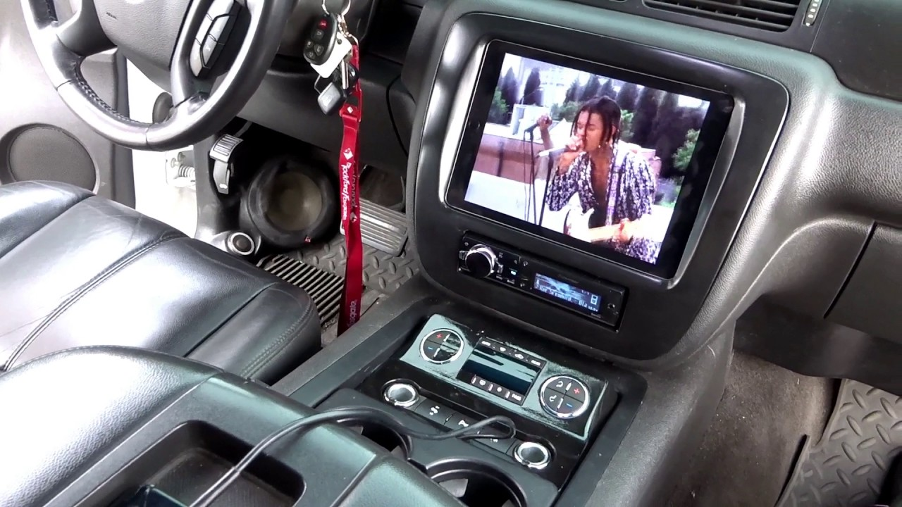 Bagged Chevy Tahoe with iPad In Dash & 4 15's! - YouTube