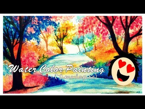 Fall is Here (Watercolor Speed Painting) | Astha Benevolent